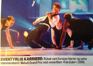 "Fairytale career - Rybak won the hearts of Europe and set a voting record in the ESC with the winning song ""Fairytale"" in 2009."