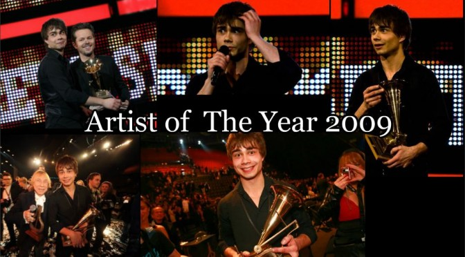 "Alexander Rybak received ""SPELLEMANNPRISEN 2009"" (Artist Of The Year) 06.03.2010"