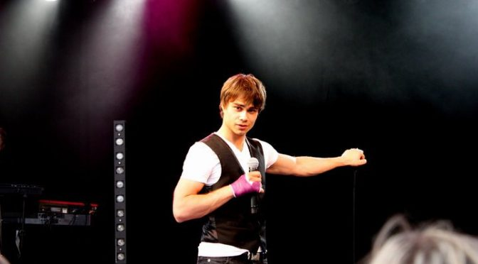 "Concert at ""SluseRock"" Festival in Lunde (Norway) June 5th, 2010 – Alexander Rybak"