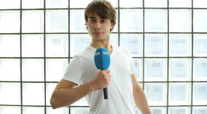 Alexander debuts as a reporter for Nrk.no April 27th 2011