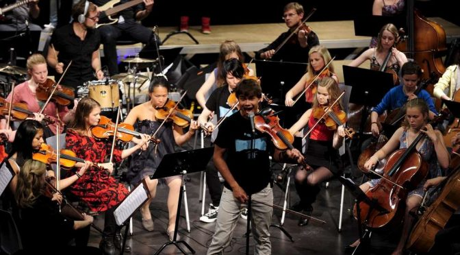 Concert of Alexander Rybak and the Summer School Orchestra at Fjord Cadenza 10.08.2011
