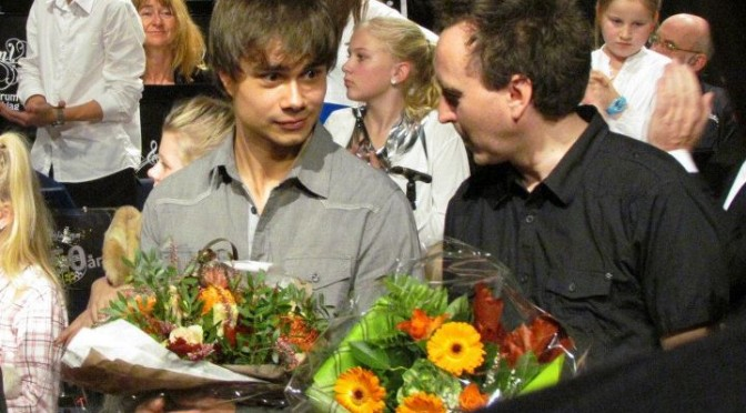 Alexander Rybak at the concert in Gjerdrum. 06.11.11