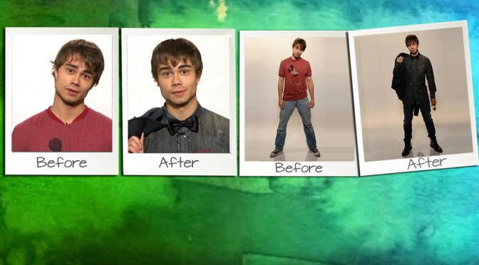 "Alexander Rybak gets a makeover in the Norwegian TV-show ""Happy Day"". 08.12.2011"