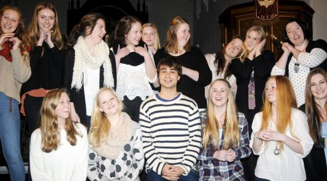 Rehearsals before Alexander's  concert with the Girls Choir in Kragerø, 17-19.02.2012
