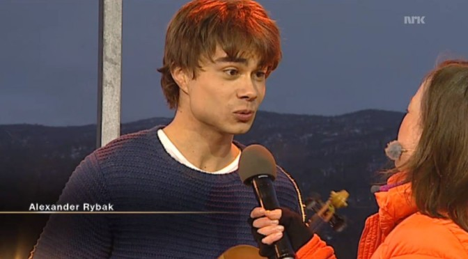 Alexander Rybak – guest in the Norwegian Easter show Påskekveld on NRK 05.04.2012