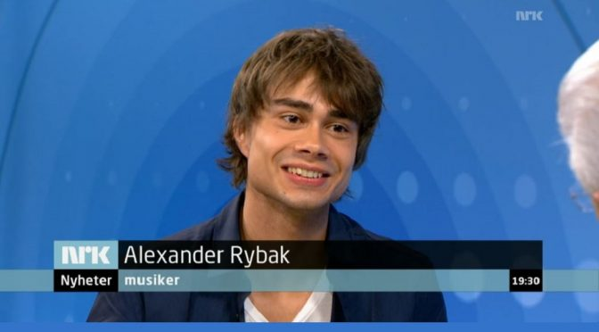 Alexander Rybak on NRK after his exam-concert – 7.6. 2012