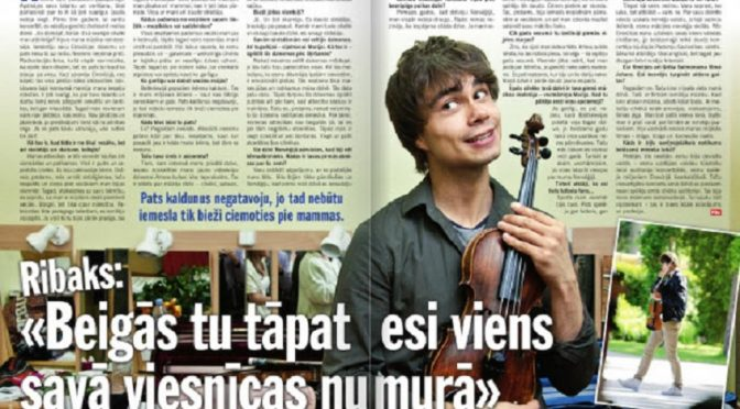 "Alexander Rybak – Intervew in the Latvian magazine ""Private Life""  June 26th 2012"
