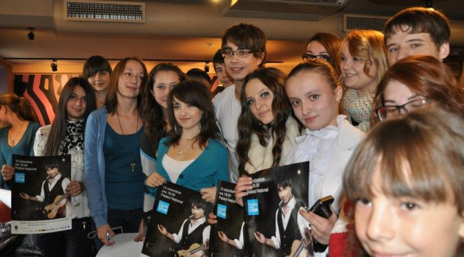 Meet and Greet – Alexander Rybak and his fans in Moldova. 14.10.2012