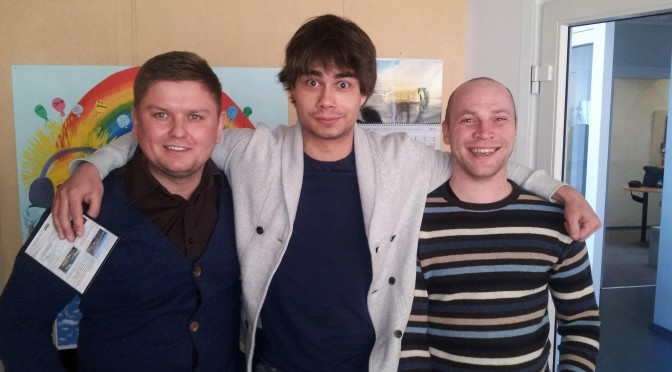 Videos: Alexander Rybak – radio interviews in Klaipeda, Lithuania, 14.03.2013.
