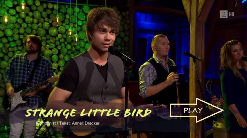 "Alexander Rybak – Cover version of ""Strange Little Bird"" by Anneli Drecker"