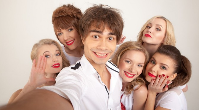 "Interview with Alexander Rybak from the photo session with girls from his Belarusian group ""Milki"""