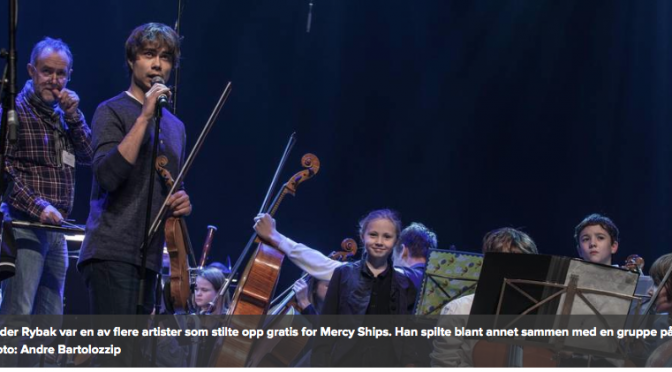 Alexander Rybak in Charity concert for Mercy Ships