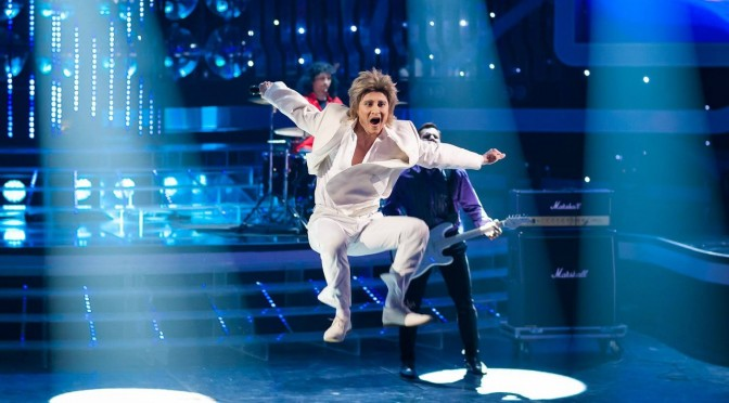 "Alexander as Rod Stewart. ""One to One"" show, episode 12"