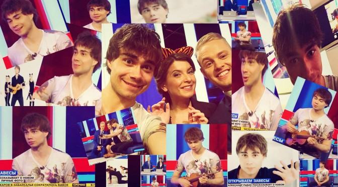 "Alexander at the Russian morning show ""Life News"""