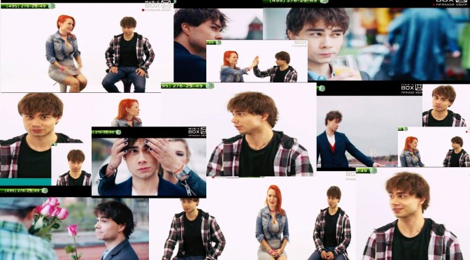 "Alexander Rybak in the Russian music show on ""Music Box TV""."