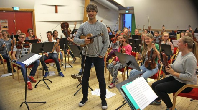 Alexander Rybak – Rehearsal for the concert with Musica Sinfonietta