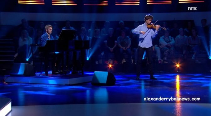 Alexander performed in the TV-show Quizdan on NRK 13.11.2016