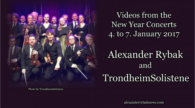 Videos – New Year concerts 2017