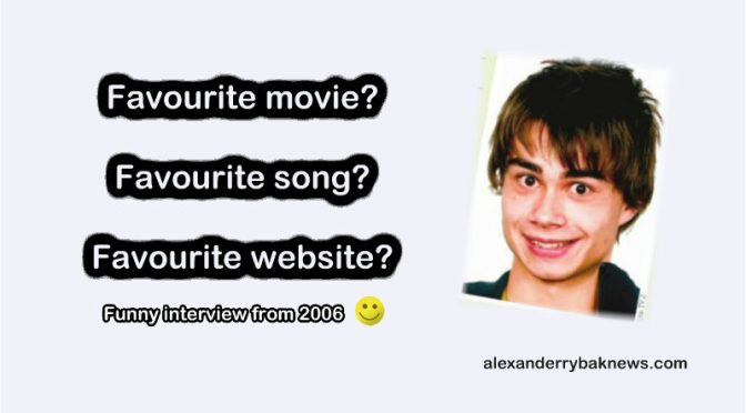 "Alexander Rybak – The Idol troll – ""School Diary"" 01.12.2006"