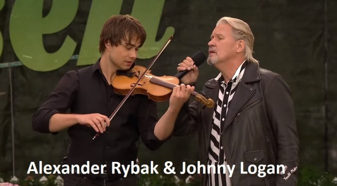 Alexander Rybak and Johnny Logan – Allsang på grensen 9.8.2017