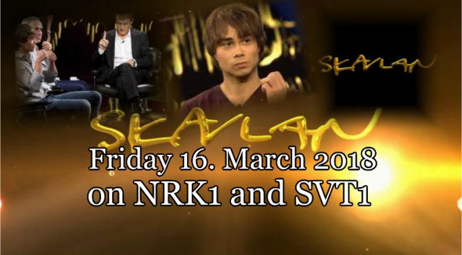 "Event: Alexander Rybak guest in the talkshow ""Skavlan 16.03.2018"