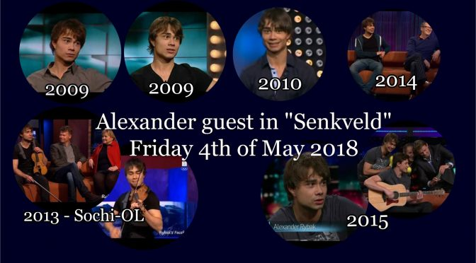 "Event: Alexander Rybak in the Norwegian talk-show ""Senkveld"" 4. May 2018"