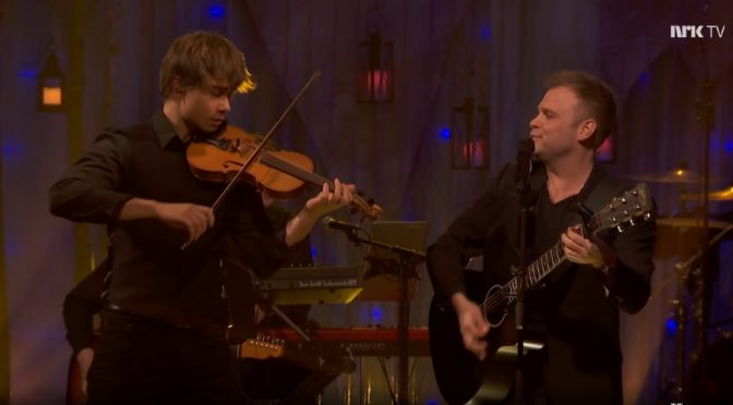 "Alexander Rybak is featured in Christian Ingebrigsten's joik on ""Muitte Mu"""