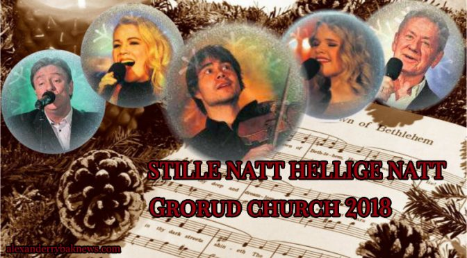 "Alexander Rybak and ""Stille Natt Hellige Natt"" in Grorud church 10.12.18"