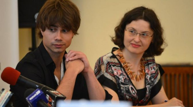 Press conference with Alexander Rybak in Iasi, Romania, 25.06.2014.