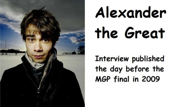 Alexander Rybak the Great – Interview in Dagbladet 20.02.2009