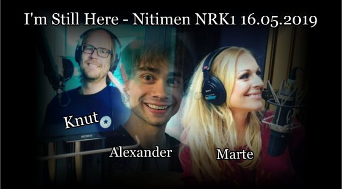 Alexander Rybak guest in Nitimen on NRK1 16.05.2019
