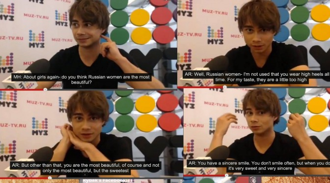 Our favorite selection from Alexander Rybak´s MUZ-TV fan questions in June 2014