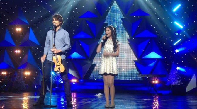Alexander Rybak at the New Year and Christmas show in Kiev  31.12.2014.