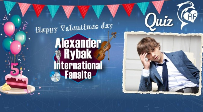 Alexander Rybak International Fansite's Birthday Quiz