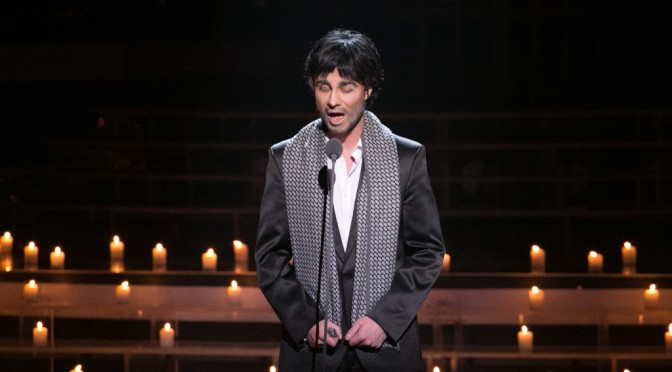 "Alexander  as Andrea Bocelli. ""One to One"" show, episode 8"