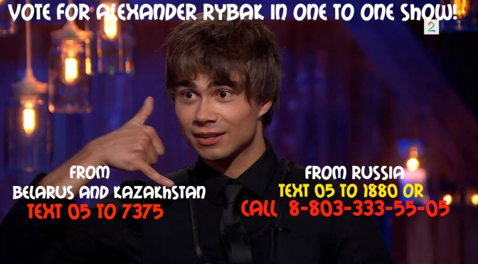 "Vote for Alexander Rybak in ""One to One"" show"