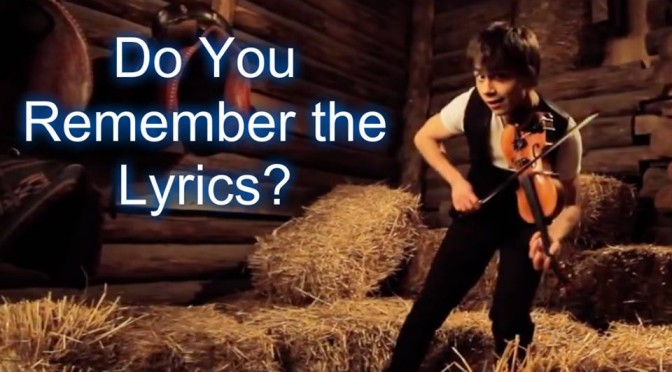 Can you Guess the Lyrics? Rybak style""