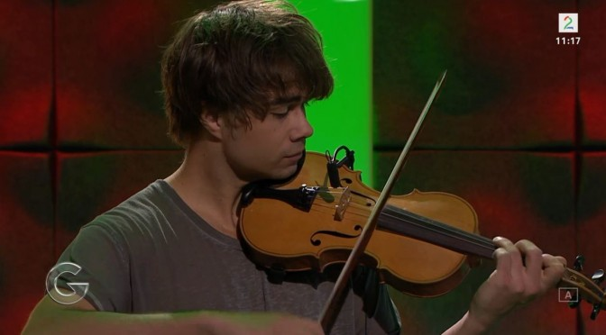 "Alexander Rybak and Pernille Hogstad in the Norwegian morning show ""God Morgen Norge"" 5.11.2015"
