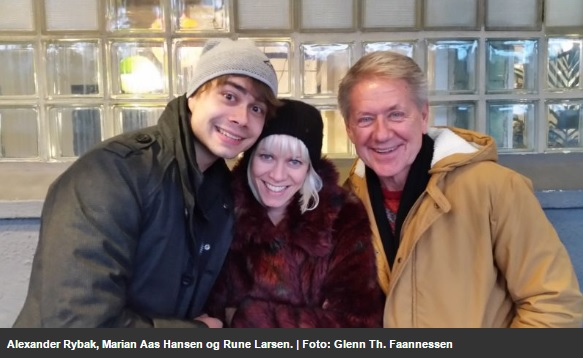 Alexander Rybak, Marian Aas Hansen and Rune Larsen – Interview on Radio Sør, Norway 29.11.2016