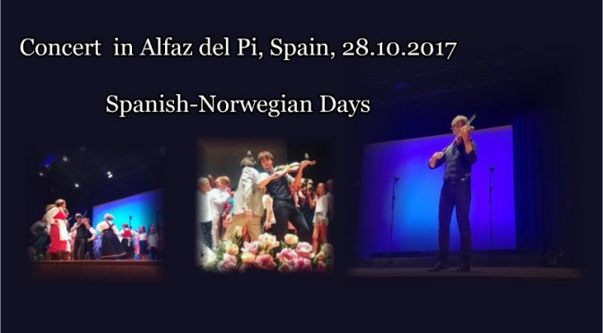 Closed the Spanish-Norwegian Days with style – Videos from Alexander Rybak's concert in Alfaz del Pi, Spain, 28.10.2017