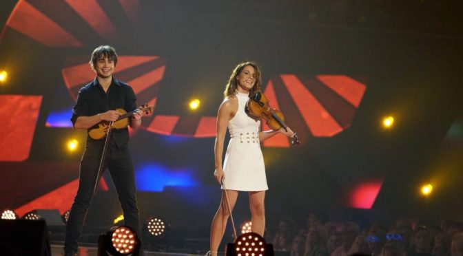Alexander Rybak and Franziska Wiese in Schlagerboom 21.10.2017