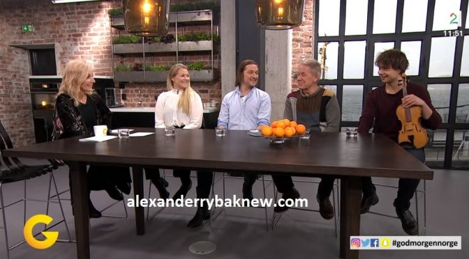 Stille Natt Hellige Natt and Alexander Rybak in Norwegian breakfast TV 24.11.2017