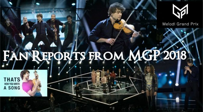 Alexander Rybak fan reports from Oslo and the Melodi Grand Prix 2018