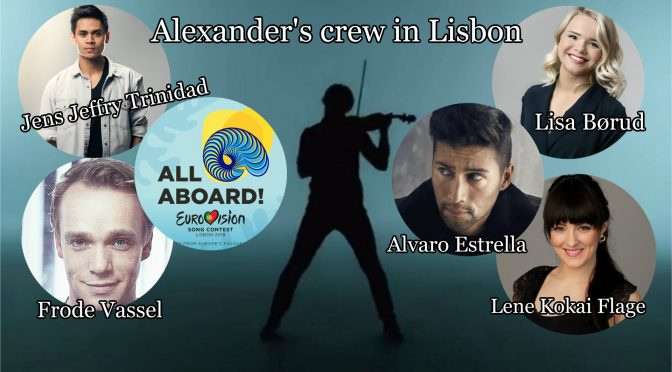Alexander Rybak with a new crew in Lisbon